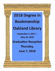 2018 Degree in Bookmanship